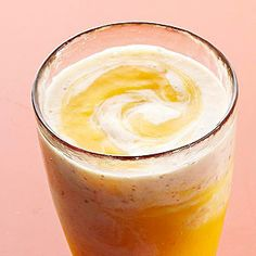 Banana, Peach, and Flax Swirly Smoothies - healthy, refreshing recipe, perfect for Breakfast, Brunch, or midday snack!