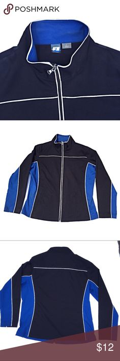 """SB Active track jacket with white piping. Large SB Active track jacket.  100% polyester. Shoulder to hem approximately 25 1/2"""".  Armpit to armpit 22"""".  Side pockets. SB Active Jackets & Coats"""