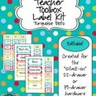 A full set of fillable labels for the Teacher Toolbox that has been circulating on Pinterest. These are for the 22- or 39-drawer organizer.   Updat...