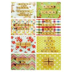 Set of eight notecards with whimsical motifs by Happee Monkee for DENY Designs.   Product: 8 Notecards and envelopesColor:...