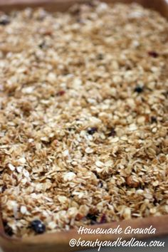 homemade granola... i used almond extract and vanilla protein powder. So good! 150 cals for 1/4 cup.