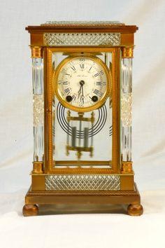 """Antique Seth Thomas """"Empire No. Classic Clocks, Glass Repair, Sundial, Antique Clocks, Side Plates, Beveled Glass, Antique Glass, Cut Glass, The Collector"""