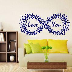 Wall Decals Love You Hearts Valentine's Day Art Vinyl Sticker Decal Decor KG709 #Fashion