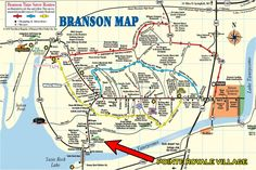 branson missouri attractions Branson Missouri Map Rent A Condo
