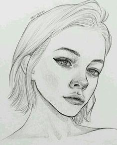 The Secrets Of Drawing Realistic Pencil Portraits - . Secrets Of Drawing Realistic Pencil Portraits - Discover The Secrets Of Drawing Realistic Pencil Portraits Pencil Art Drawings, Art Drawings Sketches, Cute Drawings, Drawing Faces, Drawing Lips, Horse Drawings, Realistic Drawings, Portrait Au Crayon, Pencil Portrait