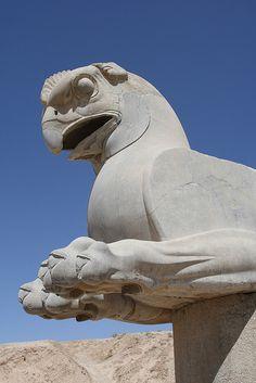 statue at Persepolis, Iran