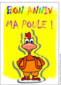 Bon anniversaire ma poule - Carte anniversaire humour par La Poste
