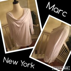 ❤️Marc New York white tunic top NWT size Large❤️ ❤️Marc New York white tunic top Size Large NWT  24 inches from shoulder to bottom. 95% rayon 5% spandex machine wash cold. Marc new york  Tops Tees - Long Sleeve