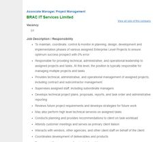 Career  Synesis It Ltd  Executive  Project Management Synesis