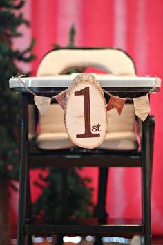 Lumberjack 1st Birthday Party via Little Retreats | www.littleretreats.com