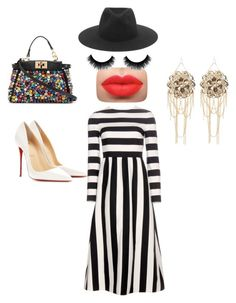 """Untitled #259"" by pumpkin-hart on Polyvore featuring rag & bone, Valentino, Fendi, Christian Louboutin and Bebe"