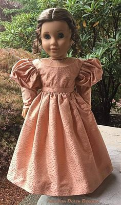 PDF Pattern Molly Romantic Era Dress for 18 inch dolls such as American Girl image 4