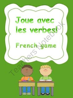 French verbal game product from Languages Corner on TeachersNotebook.com
