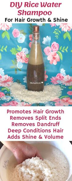 Rice water helps in hair development, provides shiny and bouncy hair. Take a look at the way it might help your hair. Rice water helps in hair development, provides shiny and bouncy hair. Take a look at the way it might help your hair. Diy Hair Growth Shampoo, Homemade Hair Growth Oil, Castor Oil For Hair Growth, Hair Mask For Growth, Vitamins For Hair Growth, Hair Growth Treatment, Homemade Shampoo, Thick Natural Hair, Hair Growth Products