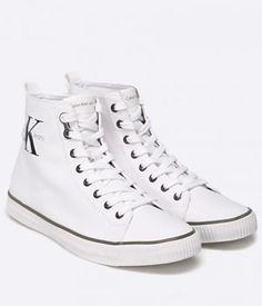 Bascheti Calvin Klein Albi Barbati Converse Chuck Taylor High, Converse High, High Top Sneakers, Calvin Klein, Chuck Taylors High Top, Mai, High Tops, Shoes, Fashion