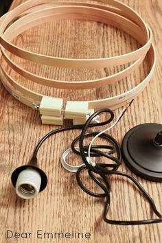 Dear Emmeline: DIY Easy Embroidery Hoop Pendant