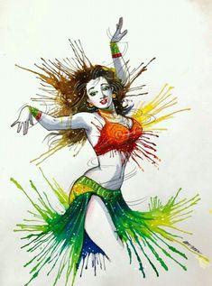 Indian Women Painting, Indian Art Paintings, Indian Artist, Cartoon Girl Drawing, Cartoon Art, Comic Drawing, Indian Art Gallery, Sexy Painting, Comic Art Girls