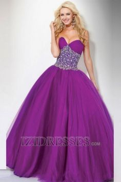 Ball Gown Strapless Sweetheart Organza Quinceanera Dresses at IZIDRESSES.com