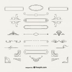 Vielzahl von ornamentalen Verzierungen