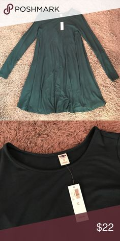 NWT Old Navy swing dress NWT super cute teal swing dress! The material is really nice, it's a bit thicker and really soft Old Navy Dresses