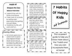 The Leader In Me The  Habits Of Happy Kids Student Self