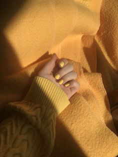 Yellow | Nails | yellow sweater | yellow blanket | aesthetic