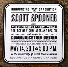 Scott Spooner's Graduation Announcements