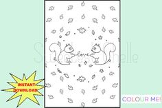 Items similar to Cute Printable COLORING Page - Squirrel Love Dashboard - Planner Dashboard - Printable Dashboard on Etsy