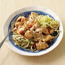 chicken paprika with noodles