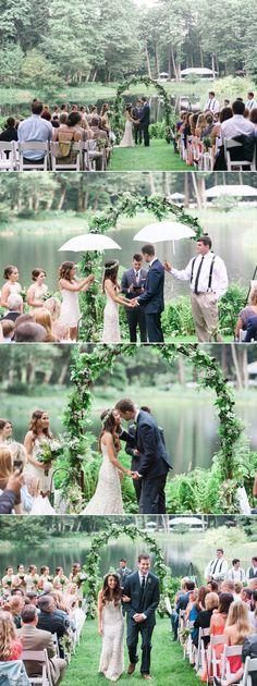 Bohemian wedding at Bridal Veil Lakes