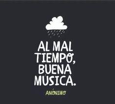 Al mal tiempo buena música #Mega1077 #NoTeCompliqués