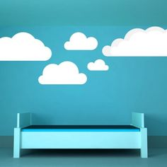 Clouds, Set of 8, Sky, Puffs, Water, Decal, Vinyl, Sticker, Wall Decor | VinylWallAccents - Housewares on ArtFire