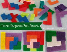 Munchkin and Bean: Tetris-Inspired Felt Board