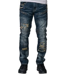 8ea48a3140 RESEARCH AND DEVELOPMENT MENS REVERSE BAKED SLIM FIT JEAN Dark Blue