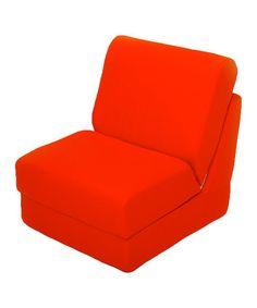 Loving this Orange Teen Sleeper Chair on #zulily! #zulilyfinds