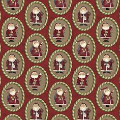DN02 - Papai Noel Oval Fabricart Tecidos -  Estampa Digital