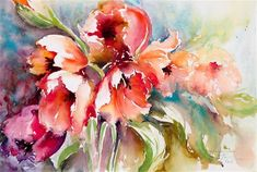 """Daily Paintworks - """"Welcome Spring"""" - Original Fine Art for Sale - © Christa Friedl♥•♥•♥"""