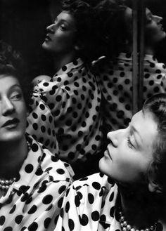 Marella by Erwin Blumenfeld in his studio in New York, 1951.