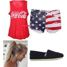 4th of July Outfit by cassie-horan0913 on Polyvore