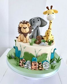Cake by Bellas Bakery - Monza Jungle Birthday Cakes, Jungle Safari Cake, Jungle Theme Cakes, Baby Boy Birthday Cake, Animal Birthday Cakes, Safari Cakes, Safari Theme, 2nd Birthday, Birthday Ideas