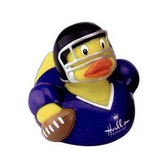 Promotional Football Player Rubber Duck - Promotional Rubber Duck | Imprinted Derby Ducks | Promotional Rubber Ducks