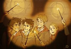 the marauders by bellemrdch. Peter looks so small and innocent, can't imagine him doing that. I like to think that he looked a bit like this, an pretty cool guy, just overshadowed by the others.