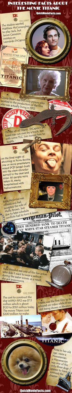 Random Fun Facts about the movie Titanic  Just for Hannahbug :)