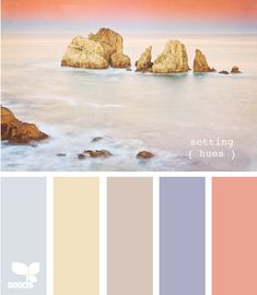 Beaches aren't only pretty to look at on vacation. Incorporate this palette into your life for a relaxing feel whenever you'd like. Colour Pallette, Colour Schemes, Color Combos, Design Seeds, Decoration Inspiration, Color Inspiration, Paleta Pantone, Palette Pastel, Color Concept