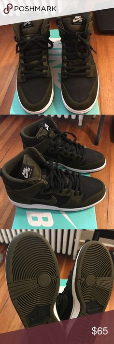 "Nike dunk high pro sb Dark and ""loden"" colorway size 10 worn once Nike Shoes Sneakers"