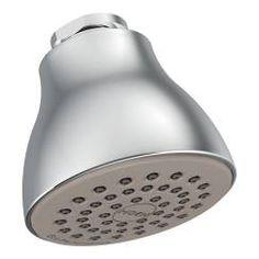 "Chrome one-function 2-1/2"" diameter spray head easy clean xl showerhead"