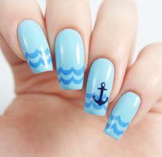 Anchor Nail Decal/ Nail Stencils
