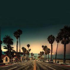 #california #eeuu #palms #road #misshamptons #sunset