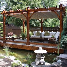 Outdoor Living Today BZ1220WRC 12-ft x 20-ft Breeze Pergola with Retractable Canopy   ATG Stores