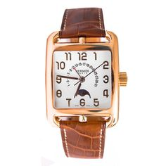 Hermes Cape Cod Mens 38mm Automatic Brown Calfskin Date Watch - http://menswomenswatches.com/hermes-cape-cod-mens-38mm-automatic-brown-calfskin-date-watch/ COMMENT.